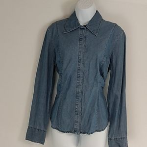 Tommy Hilfiger Reto Chambray Fitted Blouse